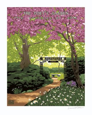 THE POETS GARDEN POSTER - Lg