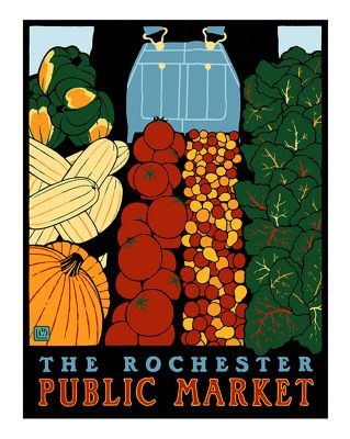 THE ROCHESTER PUBLIC MARKET POSTER