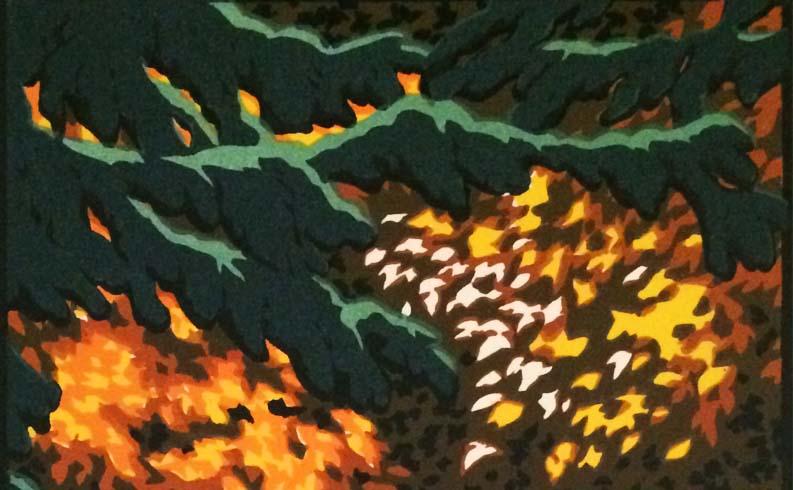 "Making ""Autumn Glow"" Block Print"