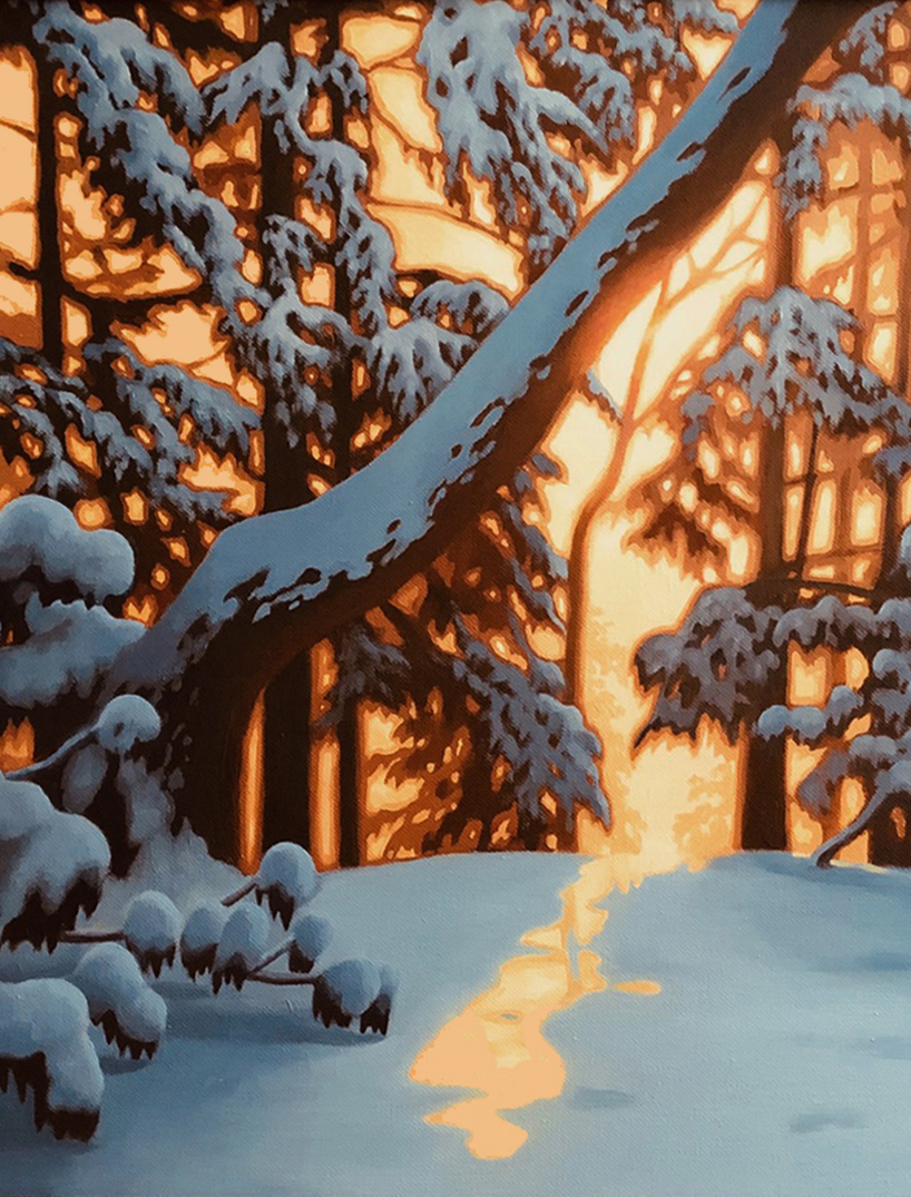 Winter Woods IV Painting