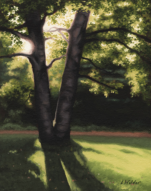 Summer Birches I Painting